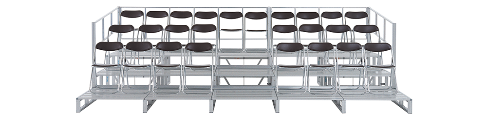 イメージ:仮設観覧席 かんたんアルミステージ観覧席