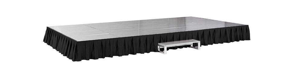 イメージ:折りたたみ式アルミステージ カーテン付(黒)