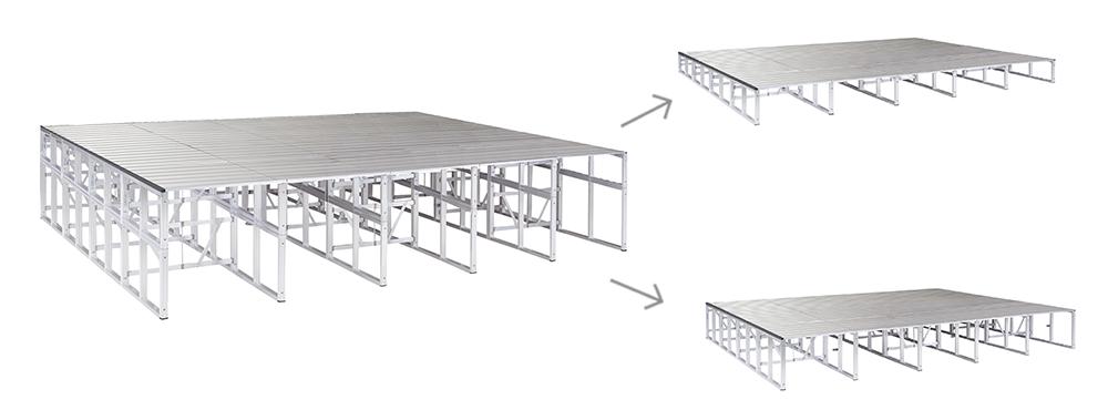 イメージ:上下重ね式ステージ