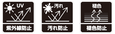 紫外線防止・汚れ防止・褪色防止
